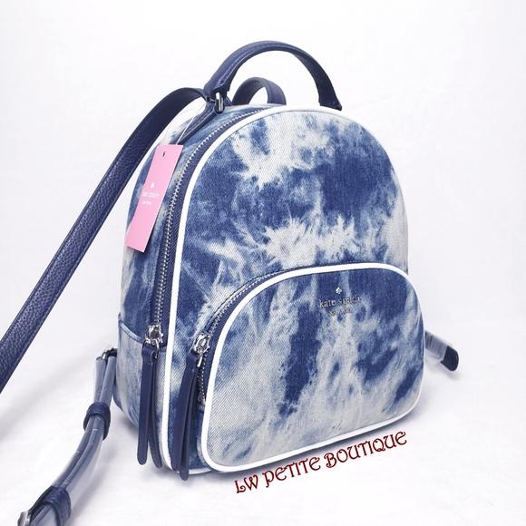 Kate Spade Tye-Dye Denim Medium Backpack